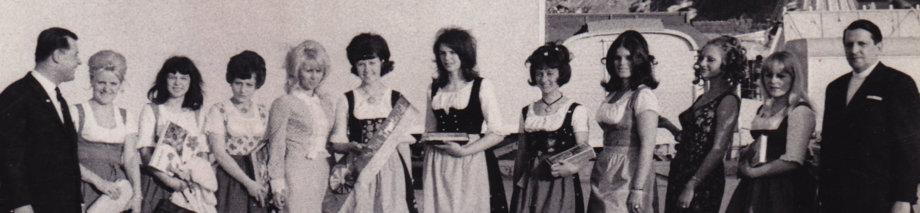 MISSWAHL 1969 AM TRIESTINGTALER VOLKSFEST